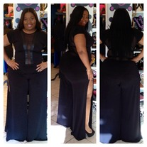 Black V Neck Jumpsuit Plus