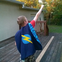 Blue Camoflage Super Hero Cape