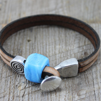 Old World Leather Bracelet