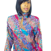 Women's Multi-Colored Floral Print Blouse