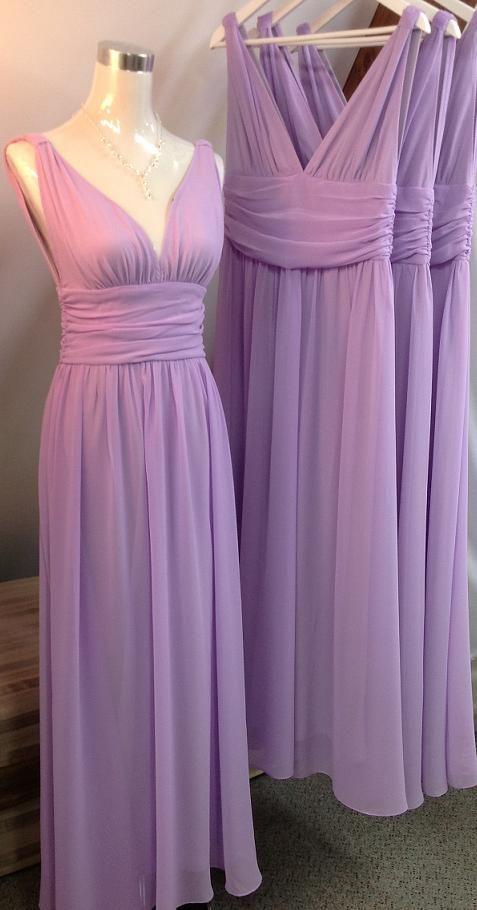 long bridesmaid dress, chiffon bridesmaid dress, lavender bridesmaid ...
