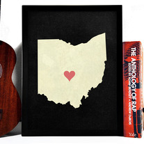 Image of Ohio State Love, Giclee Art Print, 8 x 10 inches