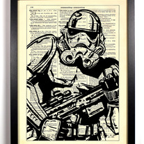 Image of Star Wars Stormtrooper, Vintage Dictionary Print, 8 x 10