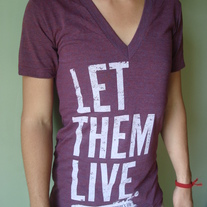 """Let Them Live"" Deep V Cranberry Tri-blend"