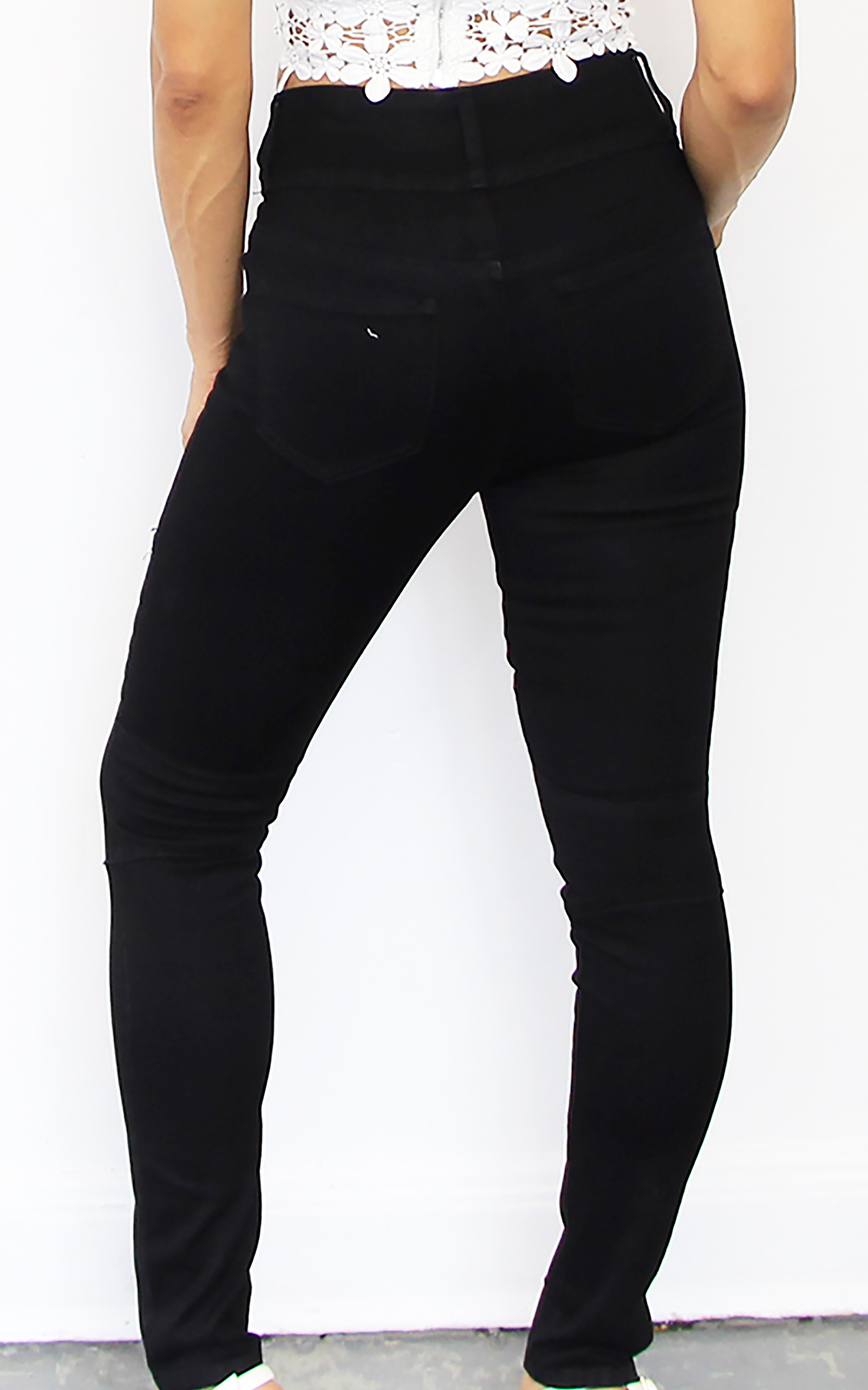 Black Denim High Waisted Jeans | Queen of Culture | Online Store ...