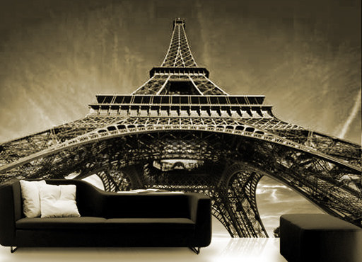 Wall STICKER MURAL Paris Eiffel tower decole poster 106x147