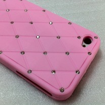 New Chic Bling Sparkle Rhinestone embellished Pink iPhone Case Cover