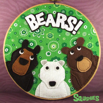 Wall Art Embroidery Hoop - Bears!