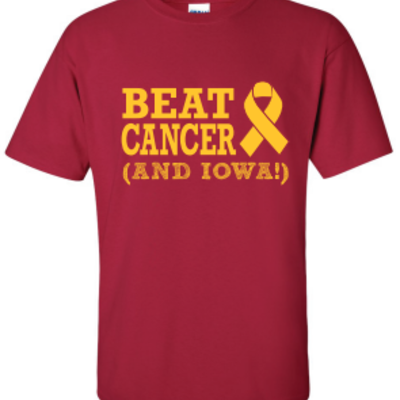 Beat cancer (and iowa) t-shirt