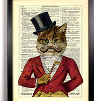 Image of Casanova Cat, Vintage Dictionary Print, 8 x 10