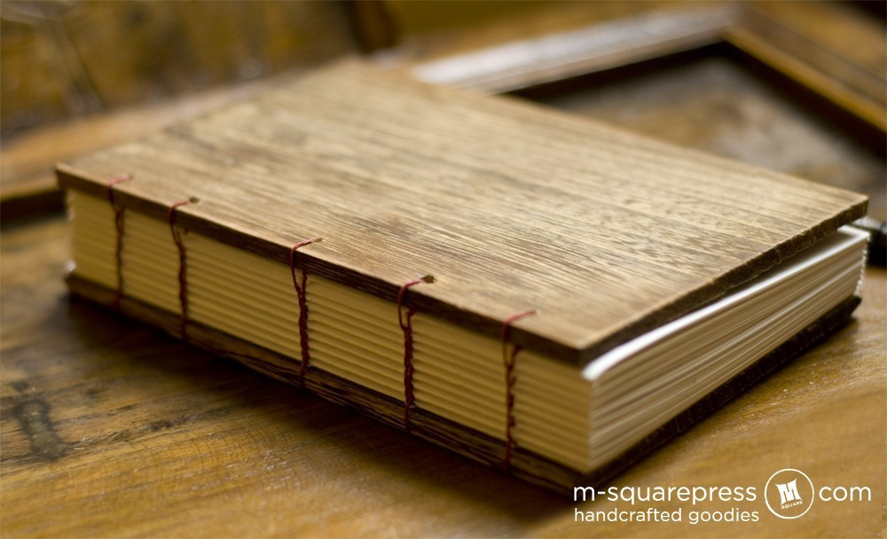 Wood Book Cover Material : Paulownia wooden handcrafted journal · m square press
