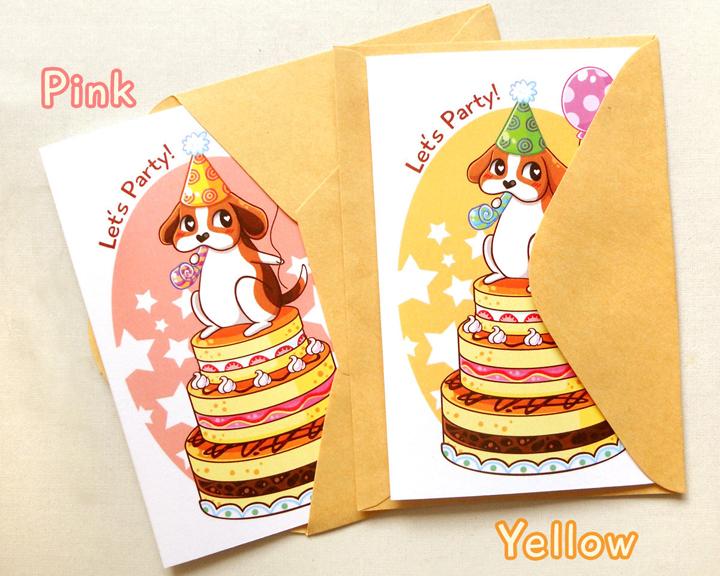 cute beagle happy birthday notecard cute dog card, kids birthday, Birthday card