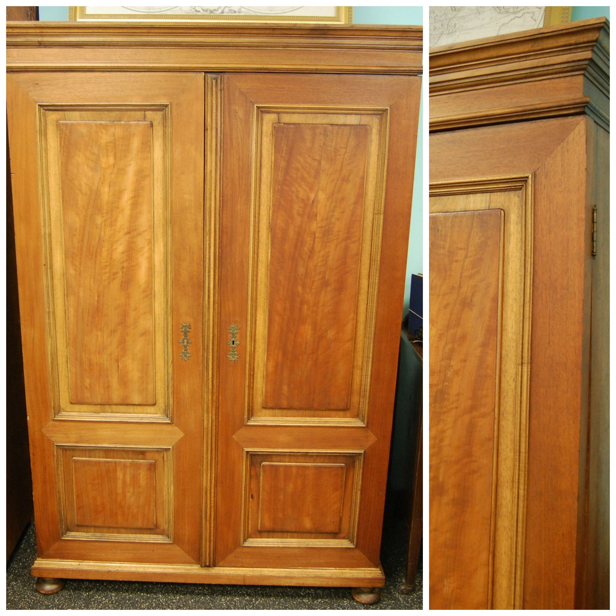 Antique Wooden Armoire / Linen Closet · Marinus Home · Online Store . Full resolution  img, nominally Width 2000 Height 2000 pixels, img with #AE5210.