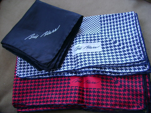Vintage Bill Blass Pocket Squares 1970 You Will Be Buying Three On Storenvy
