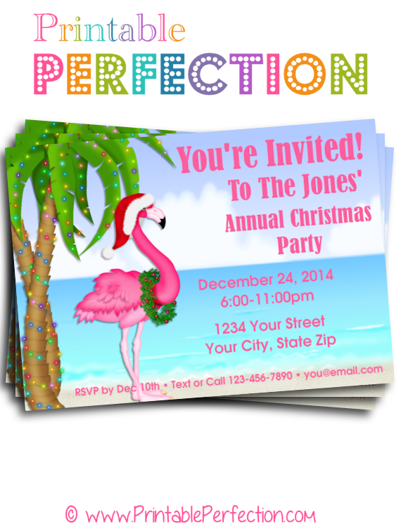 holiday party invitations christmas 3 beach christmas in july