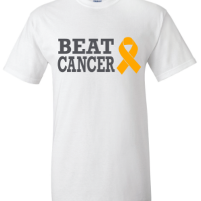 Beat cancer white t-shirt