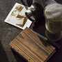 Lettepressed Small Coptic Pine Wood Journal: - Thumbnail 2