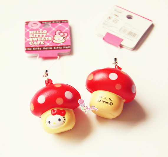 Squishy Tmi Tag : Hello Kitty in a Mushroom Squishy (with Tags) ? Uber Tiny ? Online Store Powered by Storenvy