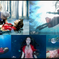 Set of 5 Aerith Gainsborough Burial Cosplay Prints medium photo