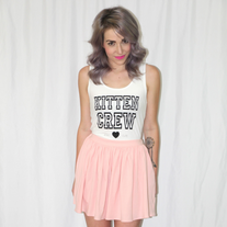 Stay Cute Kitten Crew Tank