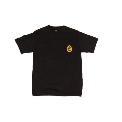 Bst black pocket tee