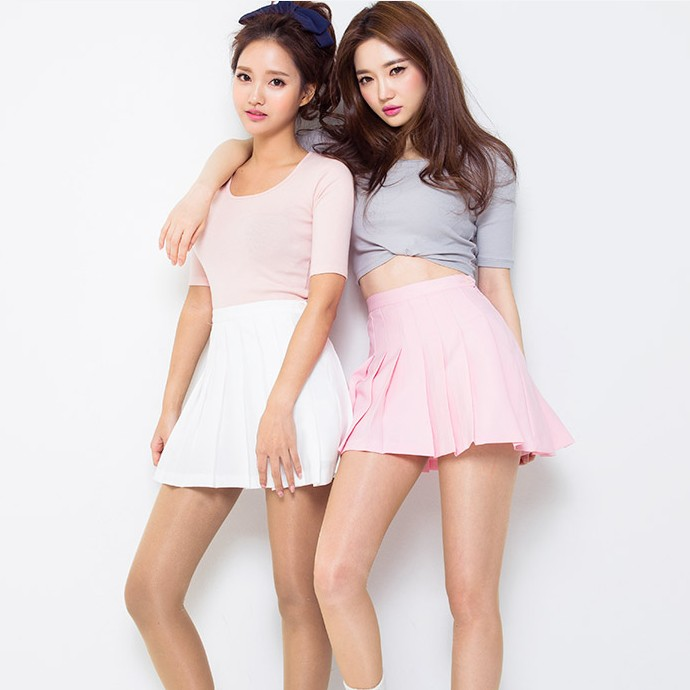 Image result for korean girls with pink skirt