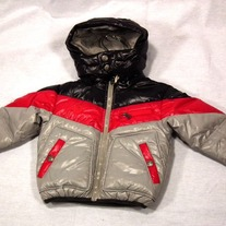 Diesel Jaciti Giubbino Puffy Coat Grey/Black/Red
