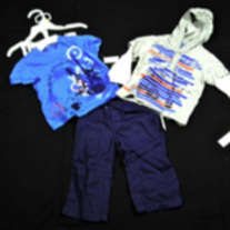DKNY Infant 3pc Gear Set 18m - Palace Blue