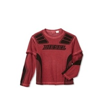 Diesel Tamay T-Shirt Long Sleeve in Red