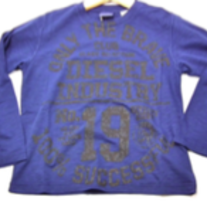 Diesel Tacalyk T-shirt Long Sleeves, Blue