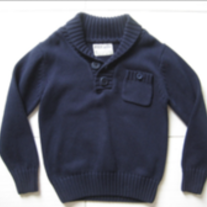 Ryder & James Poplar Sweater with Pocket & Shawl Neck - Navy