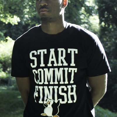 """start commit finish"" tee (black)"
