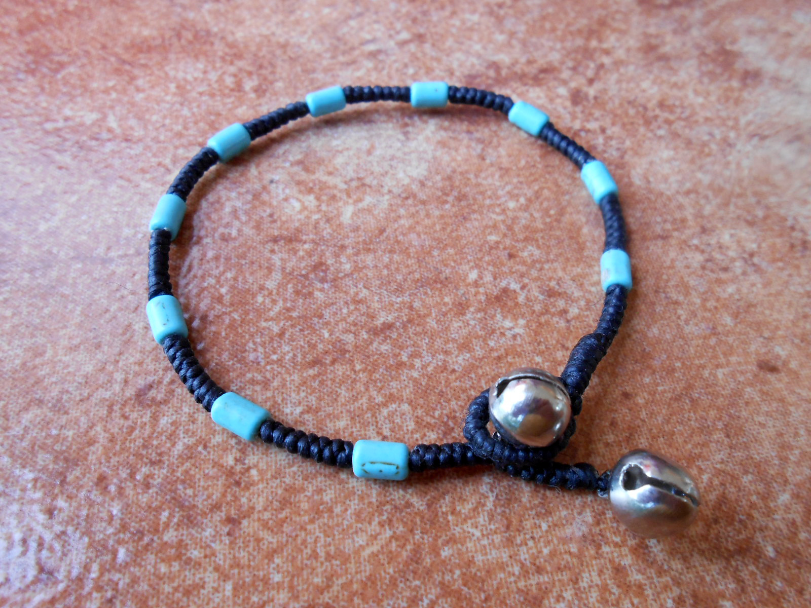 waxed with wrap euro silver and turquise knots skulls turquoise shop double bracelet cord beads bracelets