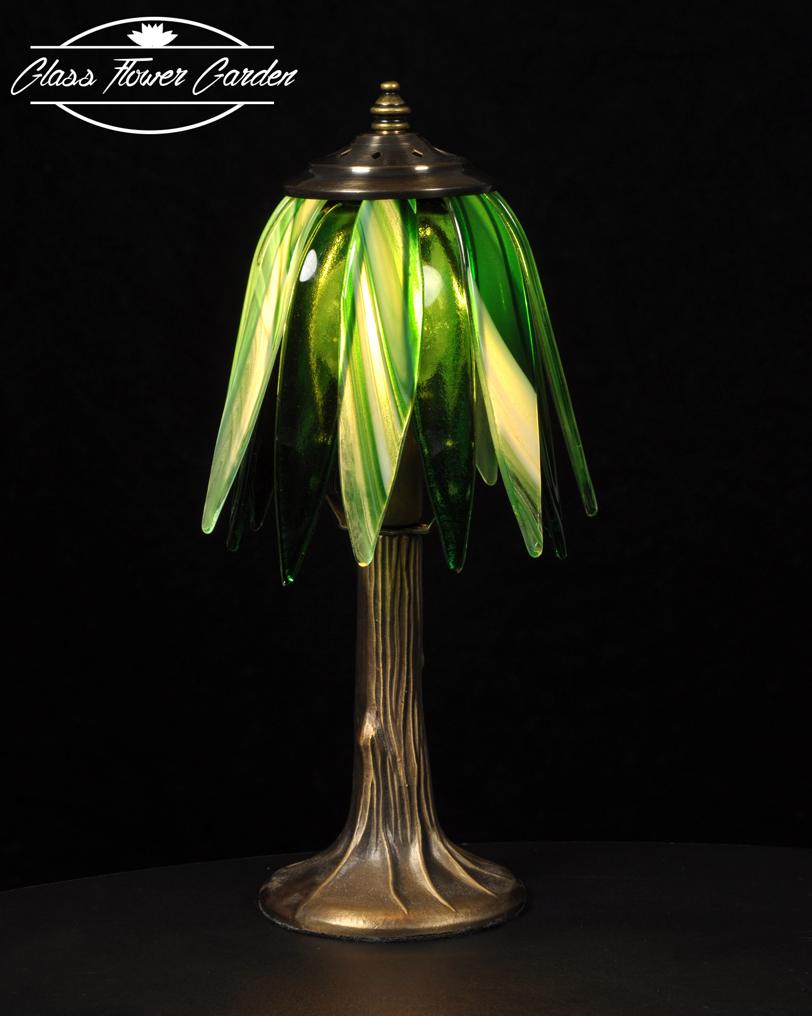Going green glass shaded lamp glass flower garden online store going green glass shaded lamp mozeypictures Gallery