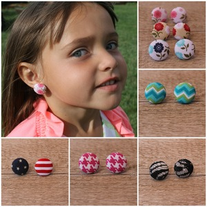Button Earrings - 12 styles to pick from!