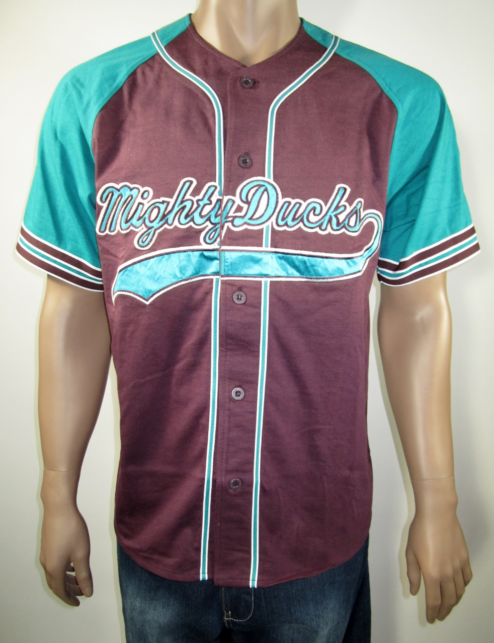 90s Anaheim Mighty Ducks Starter Baseball Jersey M NWT Rare ... 3d6d4fa4f