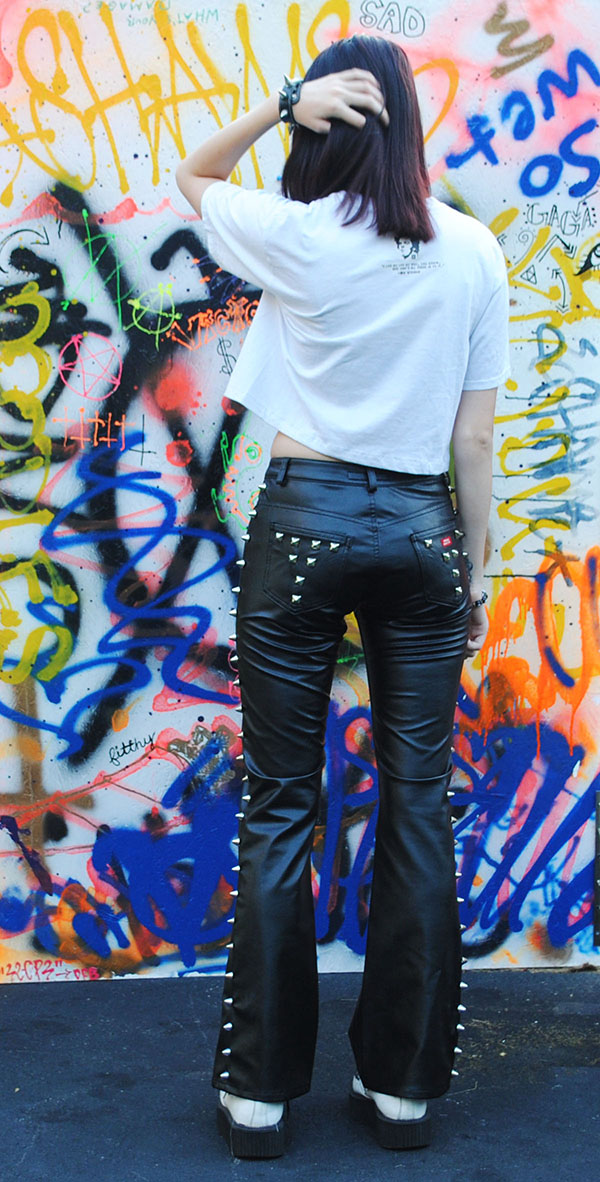 Vintage miss sixty faux leather spiked pants vicious vesture vintage miss sixty faux leather spiked pants publicscrutiny Image collections