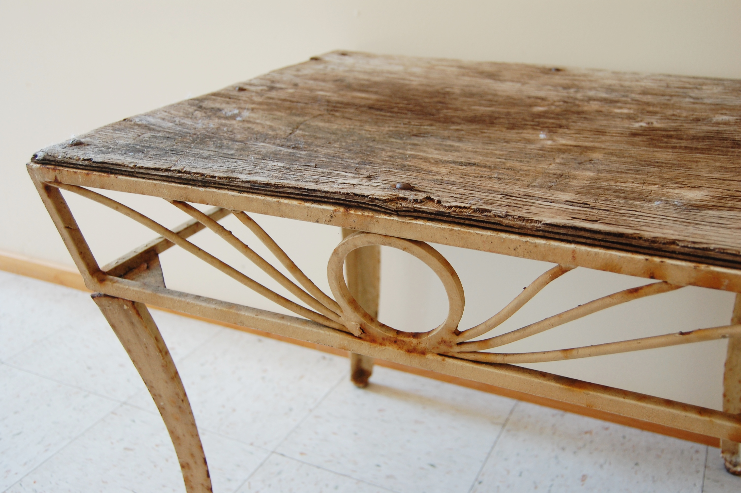 Rustic Metal Coffee Table With Wood Top Marinus Home Online Store Powered By Storenvy