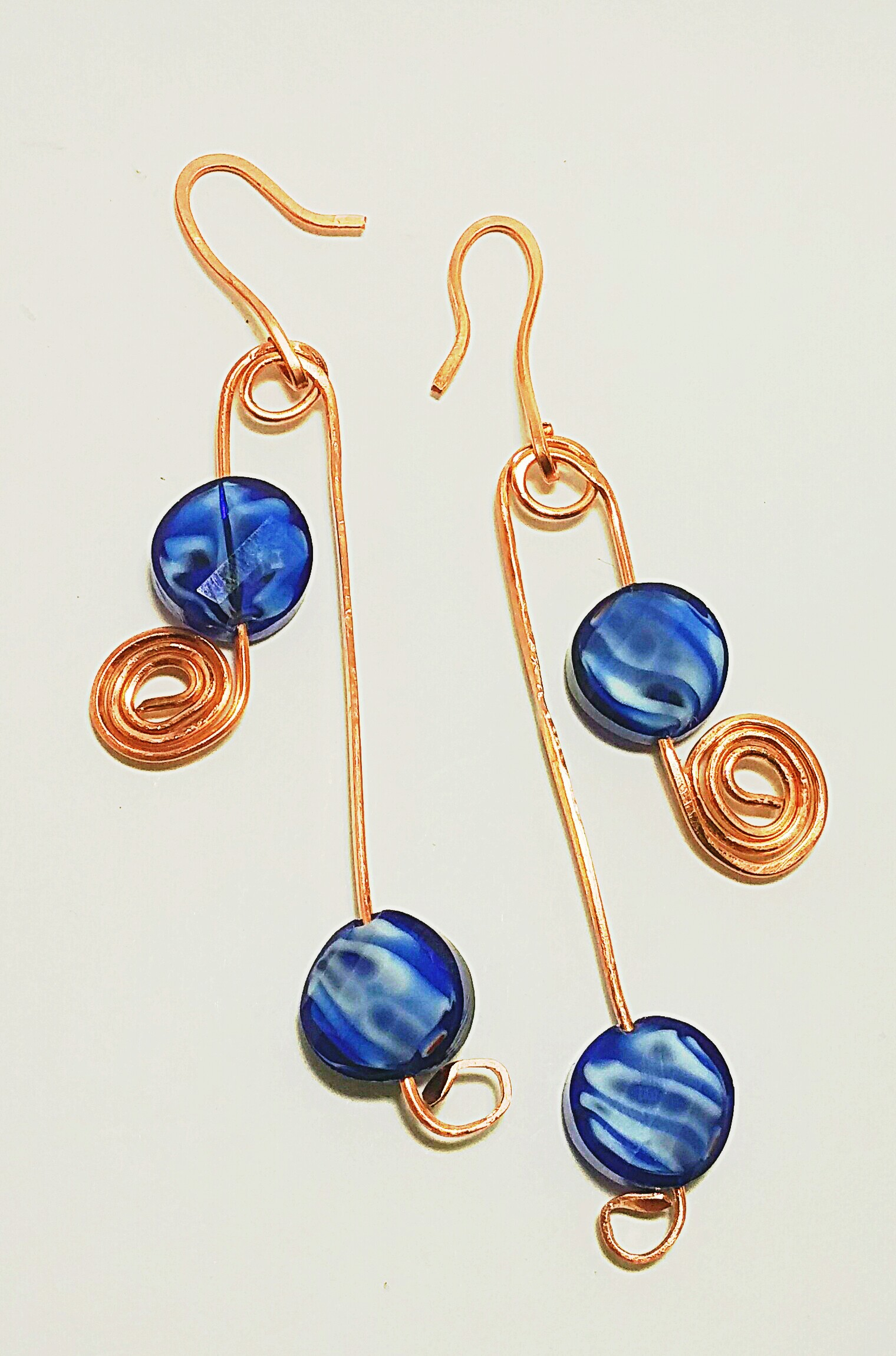 blue products chalcedony earrings hydro gold overlay plated glass brass