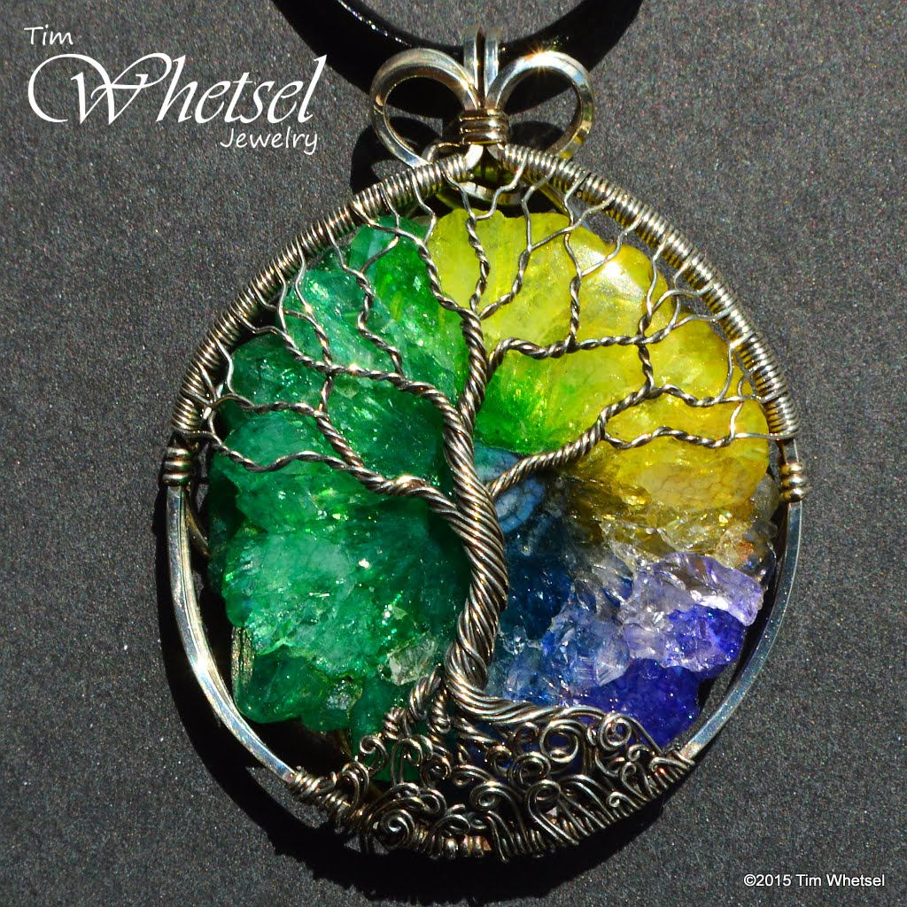 Sterling silver tree of life pendant solar quartz crystal wire sterling silver tree of life pendant solar quartz crystal wire wrap handmade aloadofball Choice Image