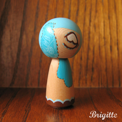 Kokeshi doll #72 stitches