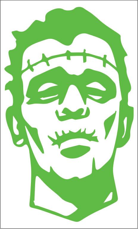 TWO Pack Of Custom Frankenstein Vinyl Decals Stickers - Vinyl decals custompack of custom skull face vinyl decalsstickers thedecalking