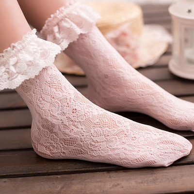 Lolita white/black lace socks