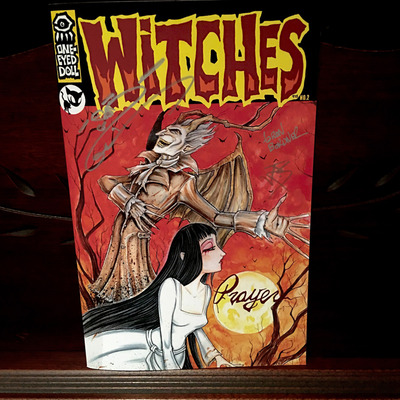 Witches: lyric comic book by aaron bordner - limited edition prayer cover