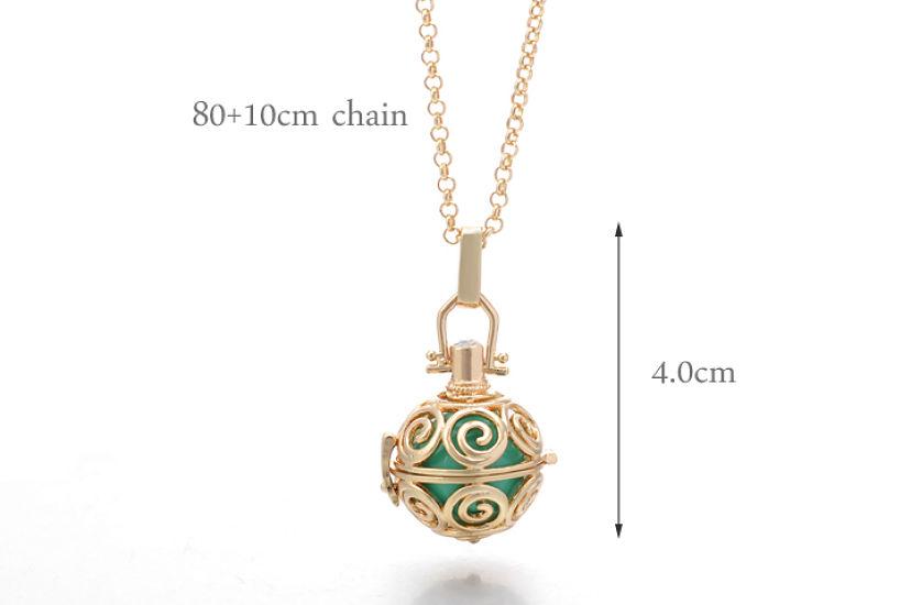 Angel callerharmony ball necklace swirl design happiheart angel callerharmony ball necklace swirl design aloadofball Images