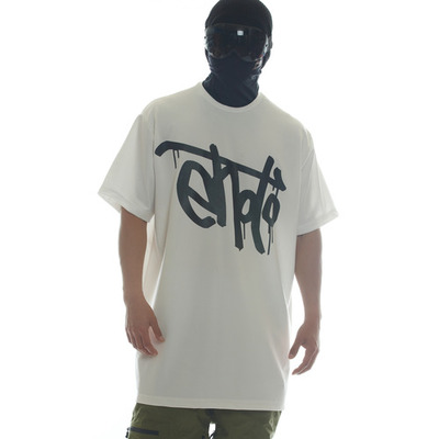[brand new] ehoto ski & snowboard dry-tech team tall tee - signature white