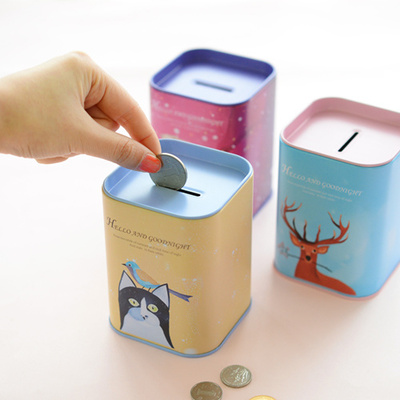 Animal art piggy bank tin can - free shipping cute pastel animal art small money box  sc 1 st  Pink Galaxy - Storenvy & Boxes / Tin Can / Storage / Money Box · Pink Galaxy · Online Store ...