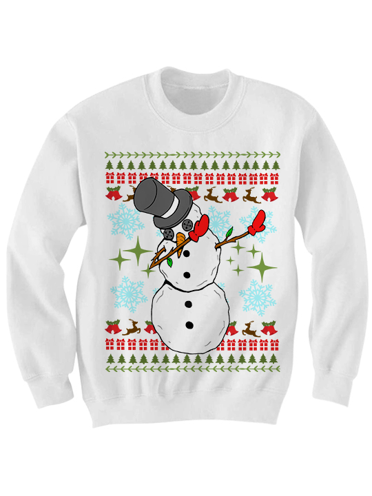 ugly christmas sweater dabbin snowman sweater funny christmas sweaters cheap gifts cheap sweaters ladies mens tops