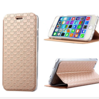 Iphone 6 plus, 6 - beautiful stamped pattern flip cover stand case in assorted colors