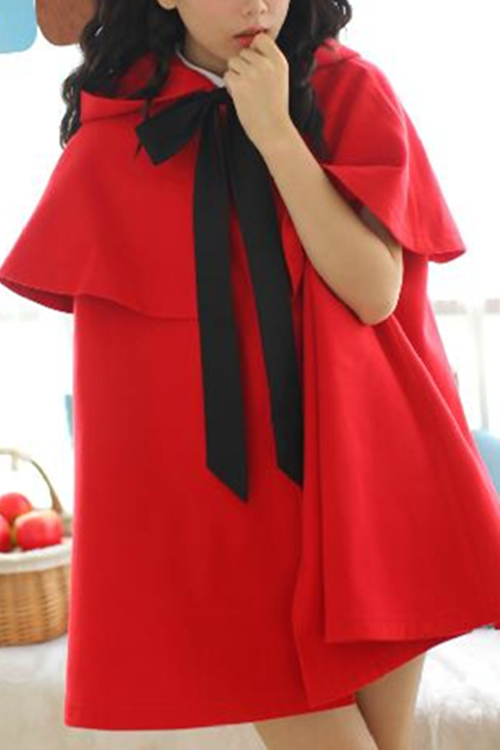 Red/Black [Little Red Riding Hood]Lolita Two-Piece Cloak Coat ...